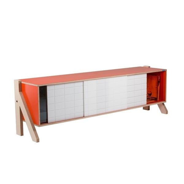 Pomarańczowa komoda rform Frame, dł. 165 cm