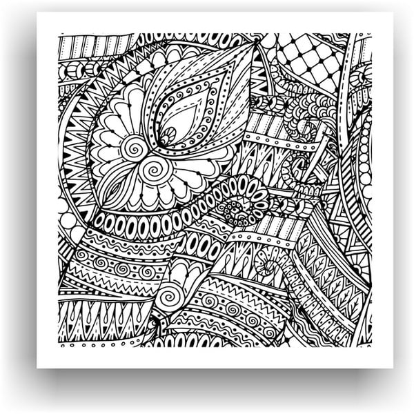 Obraz do kolorowania 79, 50x50 cm