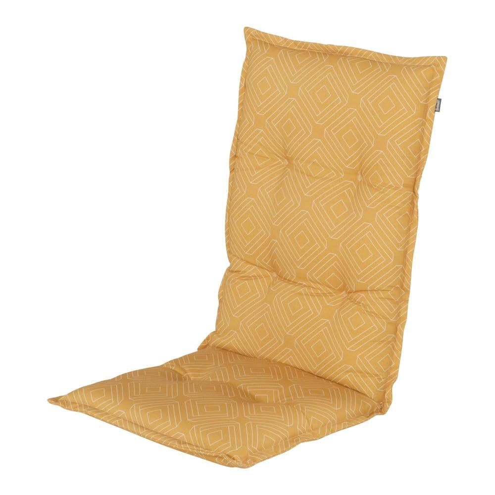 Żółta poduszka na fotel ogrodowy Hartman Bibi, 123x50 cm