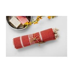 Ręcznik hamam Sabba Red, 100x180 cm