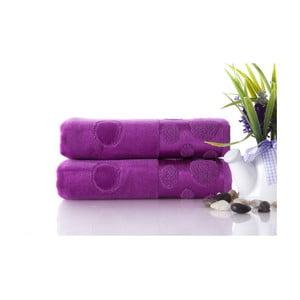 Zestaw 2 ręczników Tropical Plum Color, 50x90 cm
