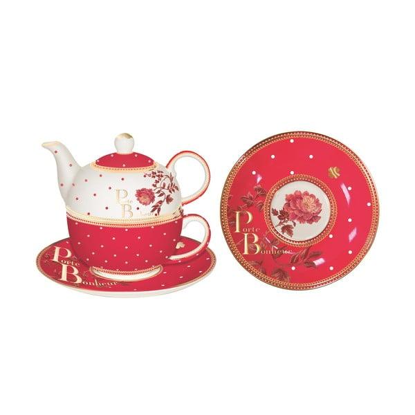 Zestaw czajnika, filiżanki i spodka Tea for One