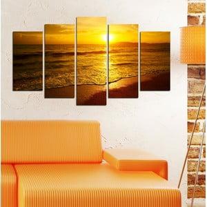 5-częściowy obraz Słońce nad morzem