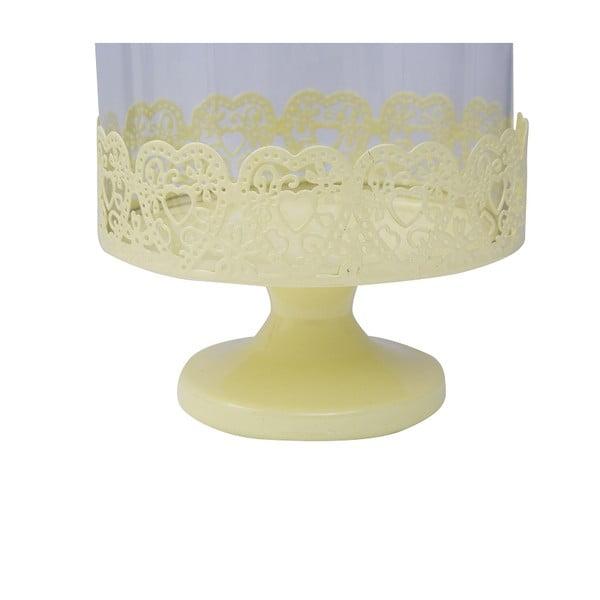 Patera na tort Dolci 29 cm, żółta