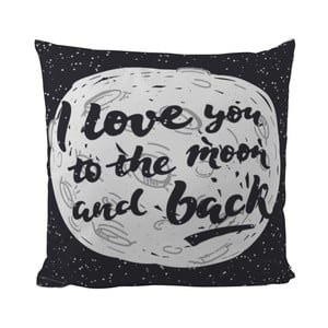 Poduszka Black Shake Love You , 50x50 cm
