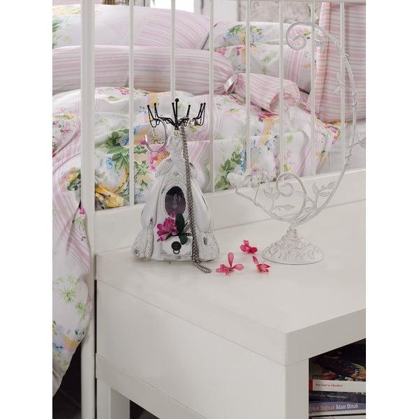 Różowa pościel z prześcieradłem na łóżko dwuosobowe Love Colors Sarah, 200 x 220 cm
