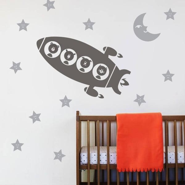 Naklejka dekoracyjna na ścianę Rakieta