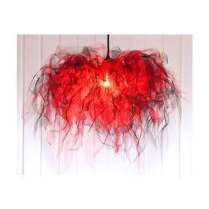 Żyrandol Ellen Munter M, czerwony z czarnym kablem