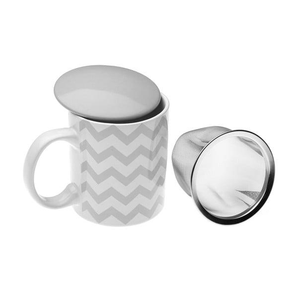 Kubek na herbatę z sitkiem VERSA Geometrico, 350 ml