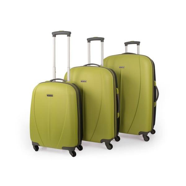 Zestaw 3 zielonych walizek Tempo