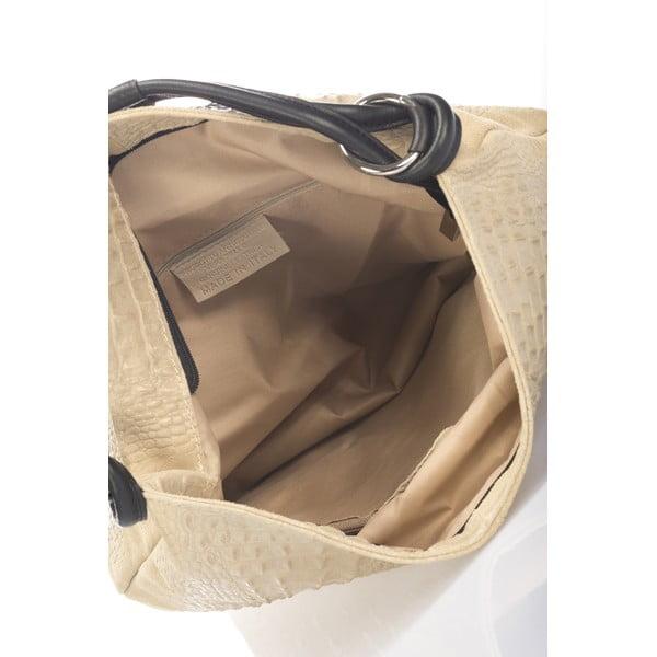 Beżowa torebka skórzana Giulia Massari Girosi