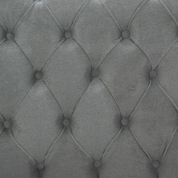 Jasnoszare łóżko z czarnymi nóżkami Vivonita Allon, 160x200 cm