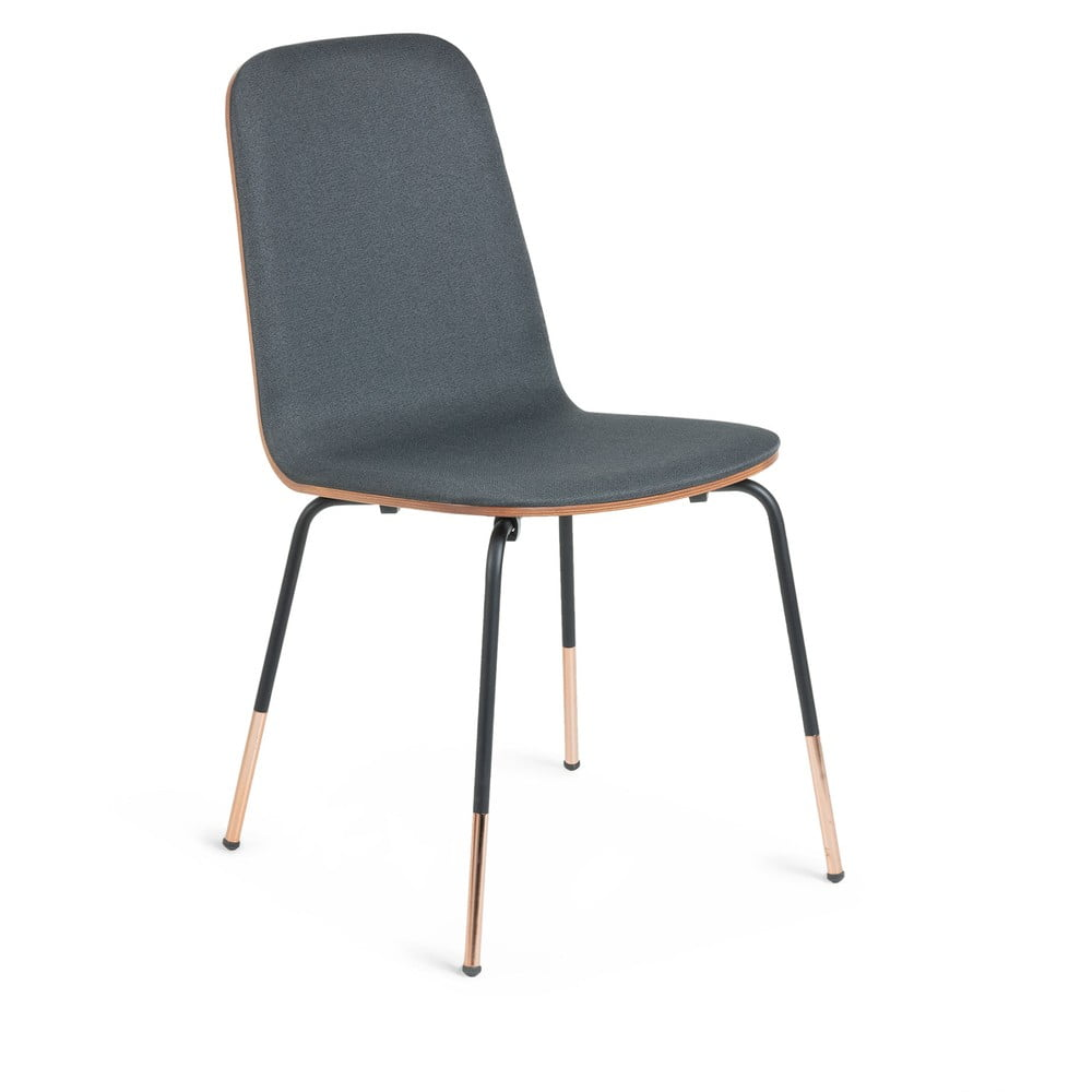 Szare krzesło La Forma Chrystel