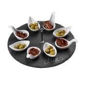 Łupkowy komplet do serwowania Premier Housewares Appetiser Round