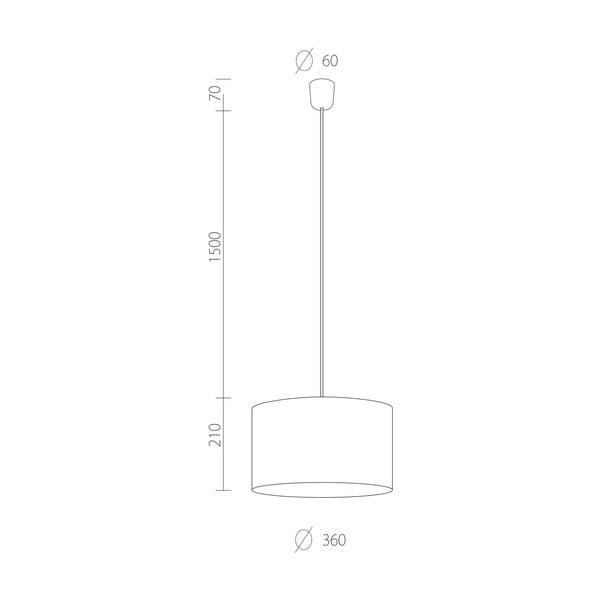 Biała lampa wisząca Tres, ⌀ 36 cm