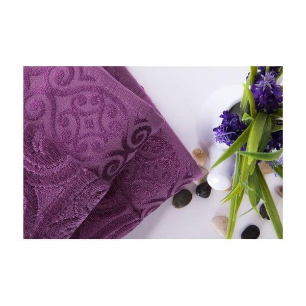 Zestaw 2 ręczników Hanzade Plum Color, 50x90 cm