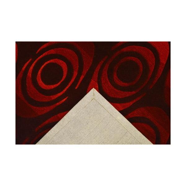 Dywan ręcznie tkany Pluto, 120x180 cm, ciemnoczerwony