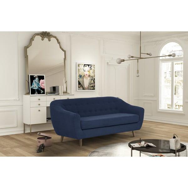 Granatowa sofa trzyosobowa Jalouse Maison Vicky