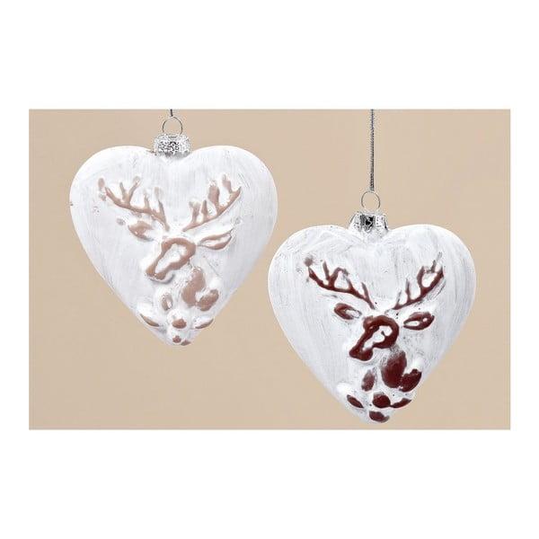 Zestaw 6 wiszących dekoracji Winter Heart