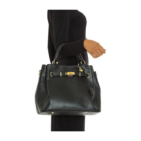 Skórzana torebka Isabella Rhea 183 Nero