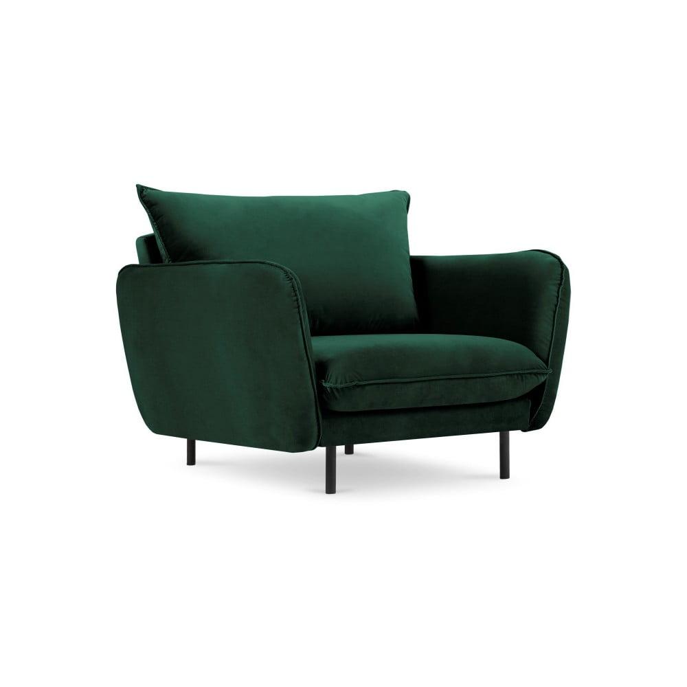 Zielony aksamitny fotel Cosmopolitan Design Vienna