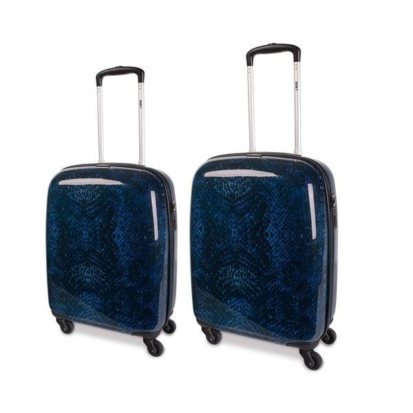 Zestaw 2 niebieskich walizek SKPA-T