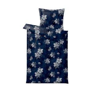 Ciemnoniebieska pościel Södahl Vintage Bloom, 140x200 cm
