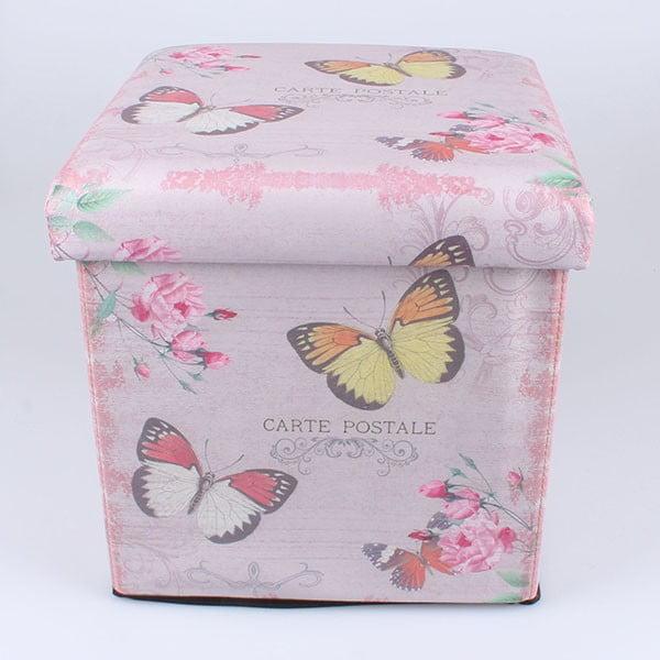 Taboret ze schowkiem Butterflies