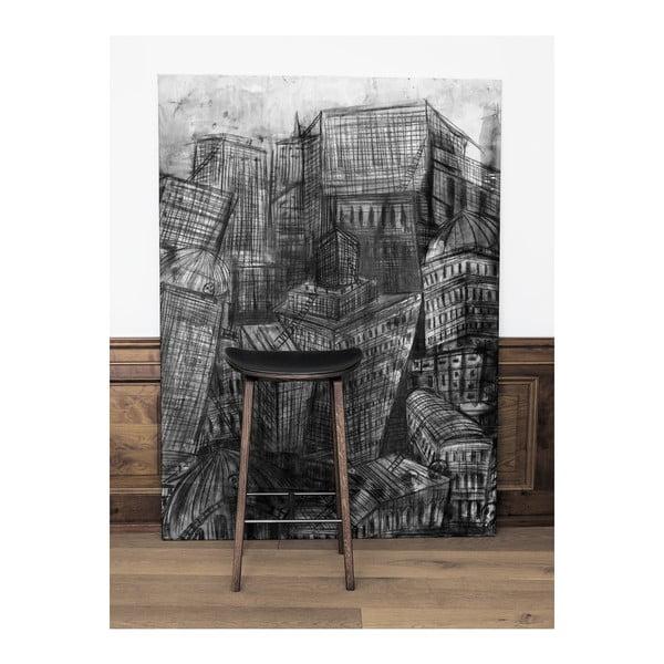 Drewniany hoker NORR11 NY11, 75x35 cm