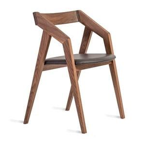 Krzesło z litego drewna orzechowego Charlie Pommier Visionnaire
