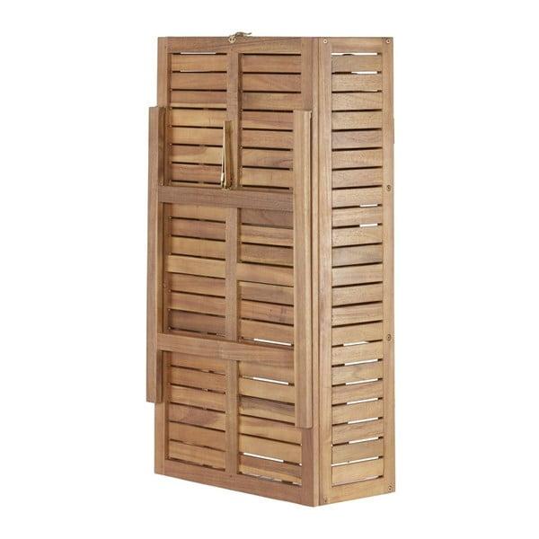 Komplet 2 krzeseł i stolika z półką z drewna akacjowego ADDU Serena