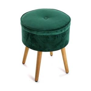 Zielony stołek ze schowkiemVersa Mosa