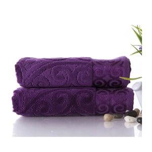 Zestaw 2 ręczników Hanzade Purple, 50x90 cm