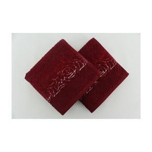 Zestaw 2 ręczników Perimele Claret Red, 50x90 cm