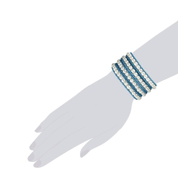 Bransoletka Evian, jasnoniebieska