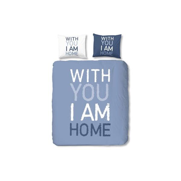 Pościel I'm Home, 200x200 cm, niebieska