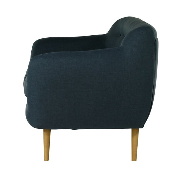 Granatowa   sofa trzyosobowa Wintech Indigo Sawana