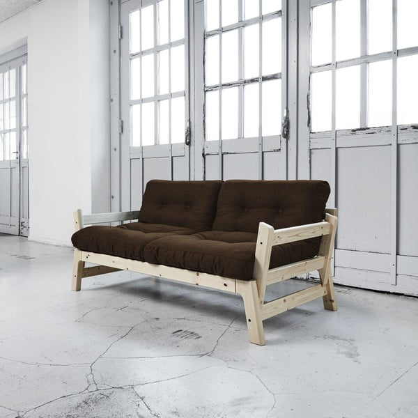 Sofa rozkładana Karup Step Natural/Choco Brown