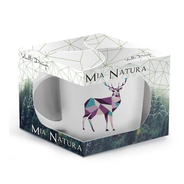 Porcelanowy kubek Vialli Design Wild Deer, 370 ml