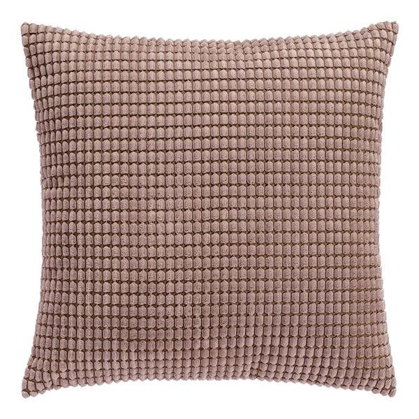 Brązowa poduszka z wypełnieniem, 45x45cm