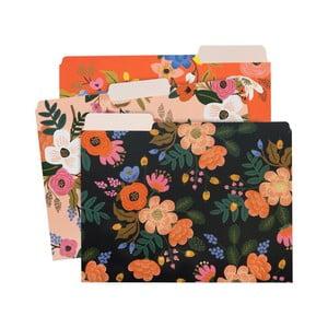 Zestaw 3 teczek na dokumenty Rifle Paper Lively Floral