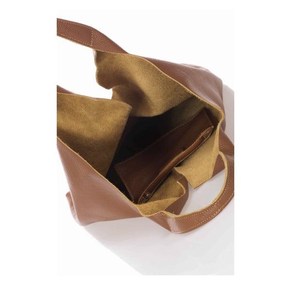 Koniakowa torebka skórzana Giulia Massari Laurette