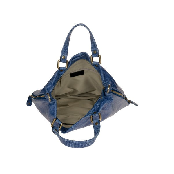 Skórzana torebka Ore Diece Affile, niebieska