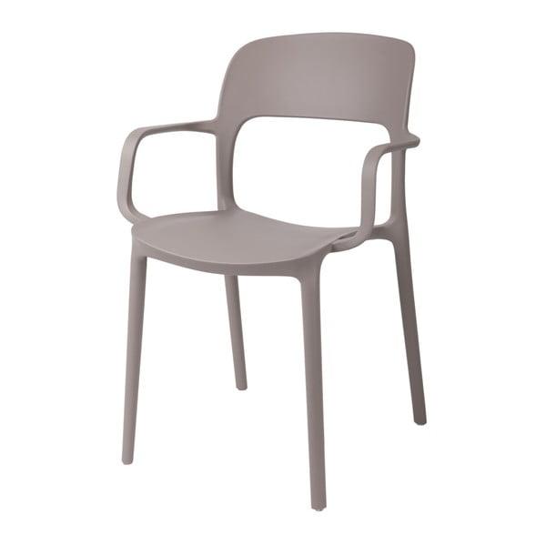 Zestaw 2 krzeseł D2 Flexi, z podłokietnikami, szare