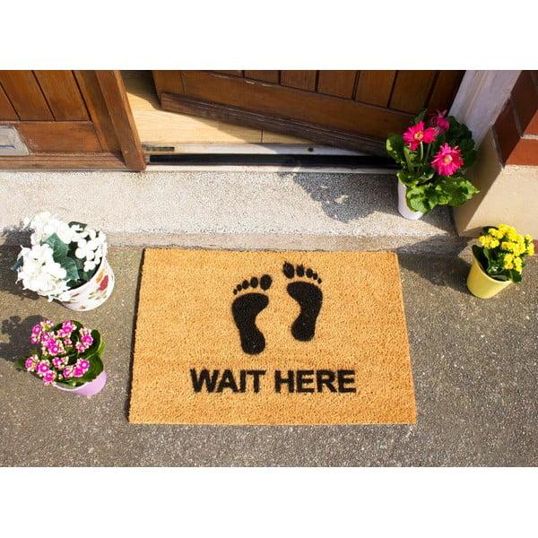 Wycieraczka Artsy Doormats Wait Here, 40x60 cm