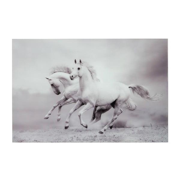 Szklany   obraz Two Horses, 80x120 cm