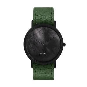 Czarny zegarek unisex z zielonym paskiem South Lane Stockholm Avant Diffuse