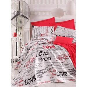 Narzuta i poszewki na poduszkę Florya Loveforever, 200x230 cm