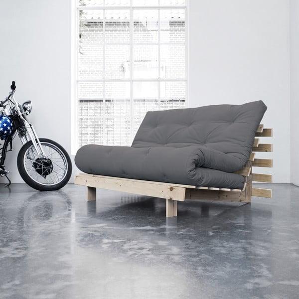 Sofa rozkładana Karup Roots Raw/Gris