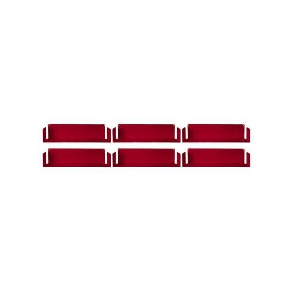 Niewidzialne półki Linéaire U, czerwone, 6 sztuk
